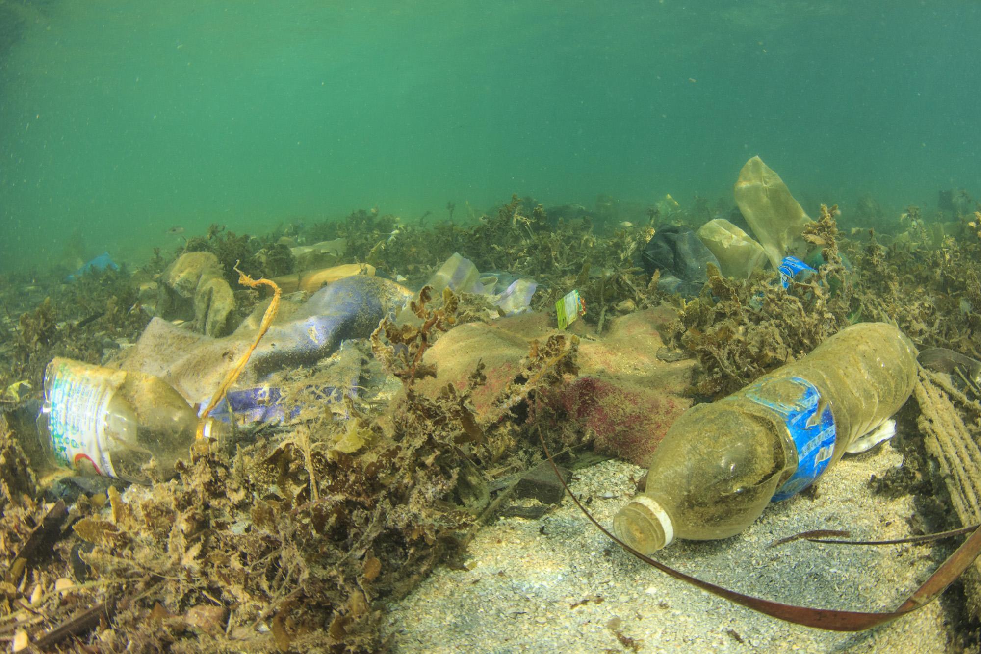 Poluição no mar