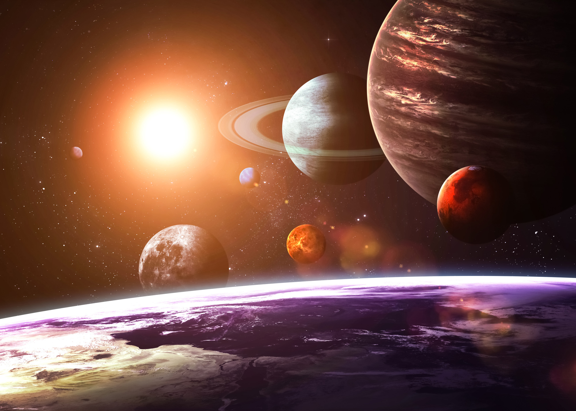 Solar system and space objects-72 ppi