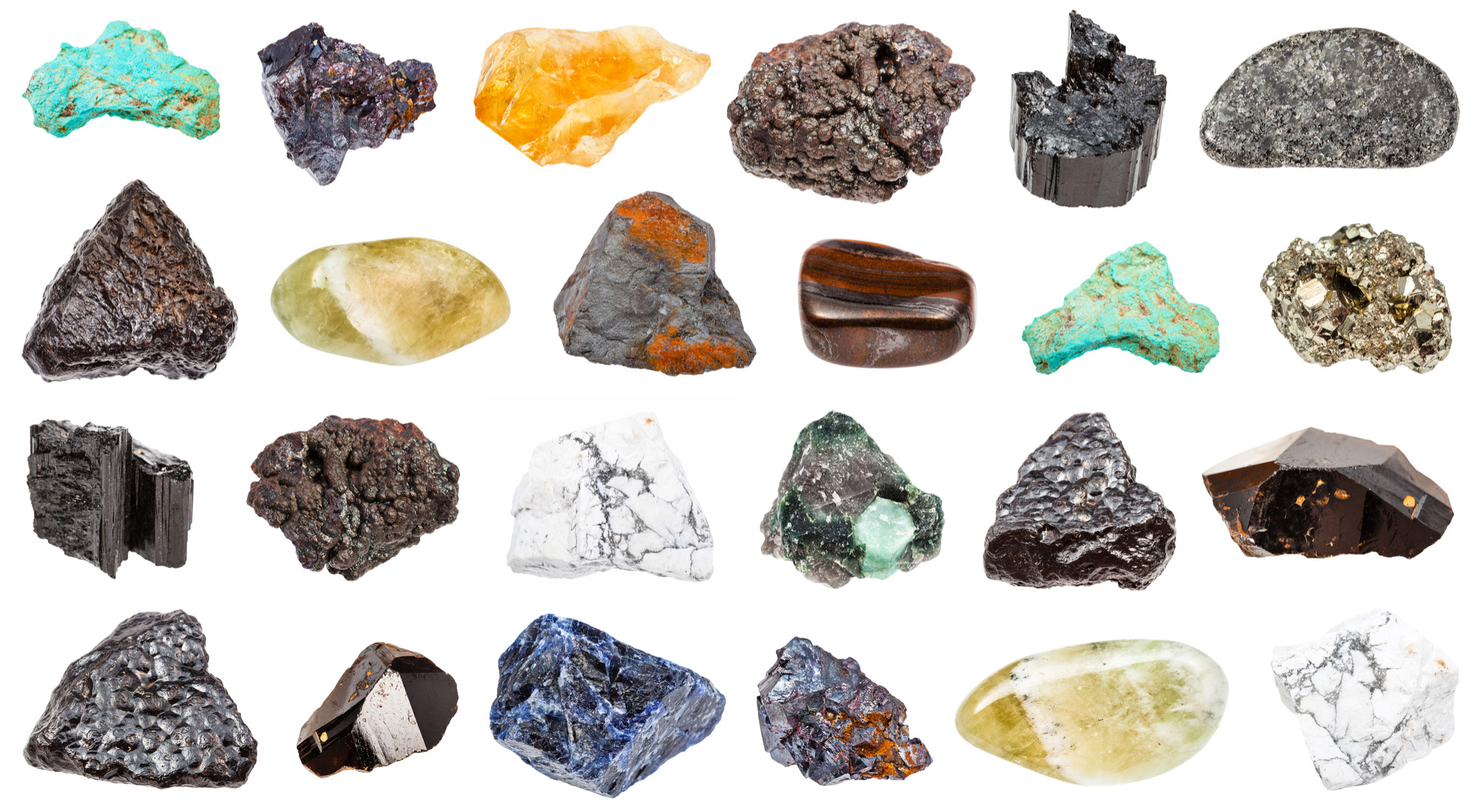 Collection of various minerals-72 ppi