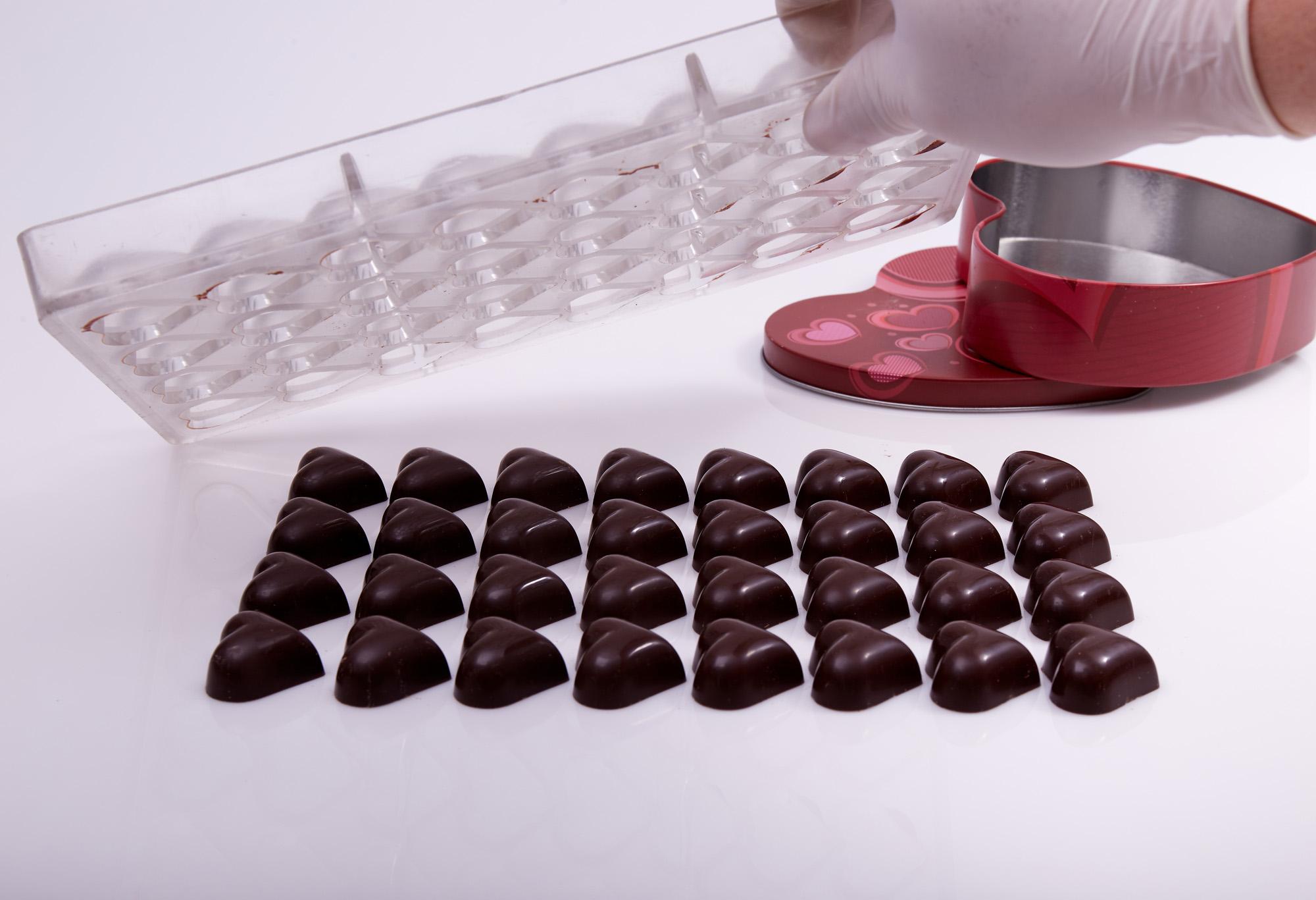 شوكولاتة على شكل قلب