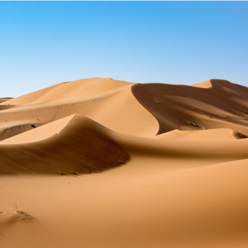 Erg Chebbi Dunes in the Sahara Desert