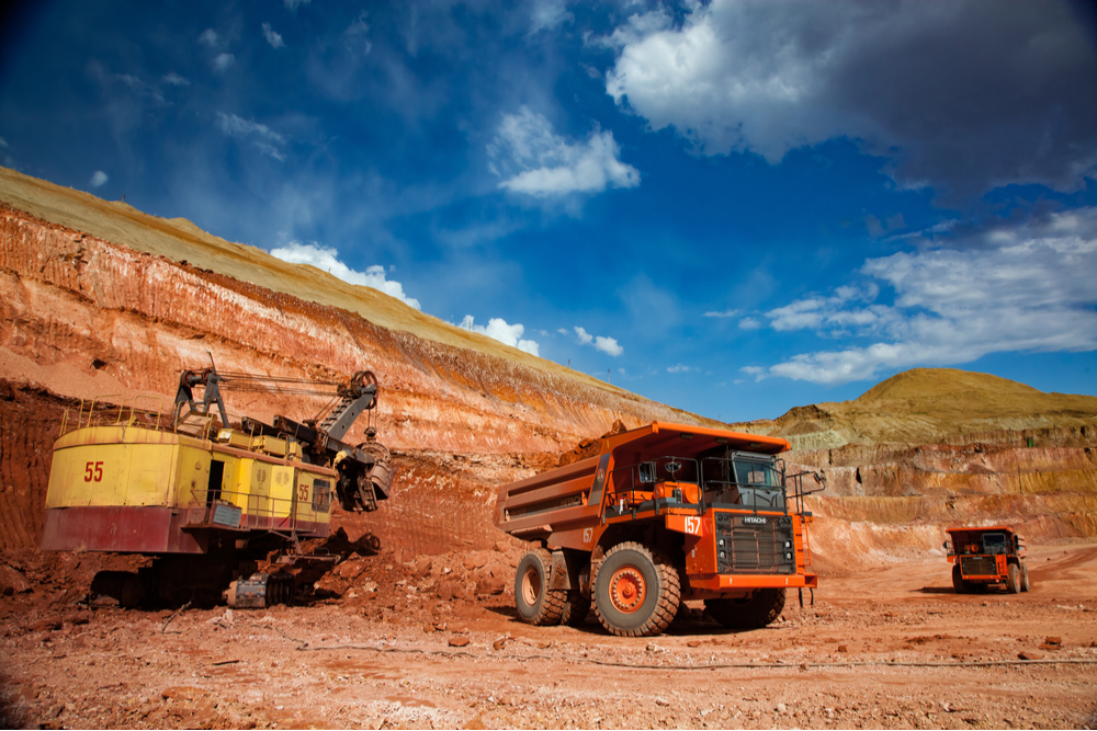 An opencut bauxite mine in Kazakhstan
