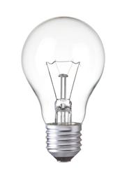 Light bulb, isolated, Realistic photo edited