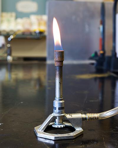 Bunsen Burner in a chemistry laboratory
