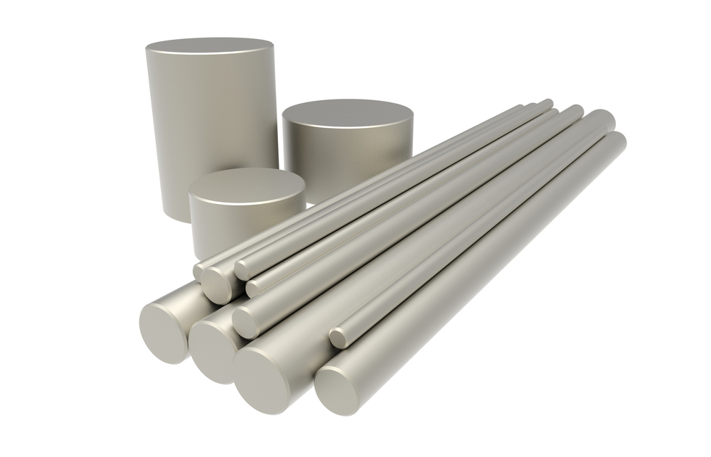 Rods of titanium