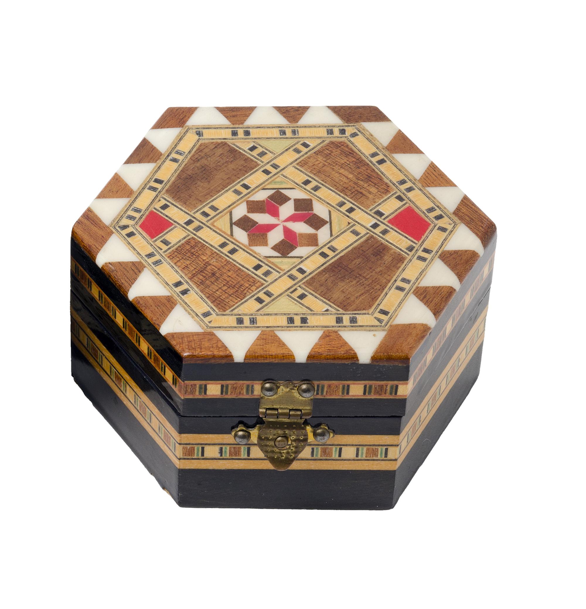 Caixa de jóias hexagonal