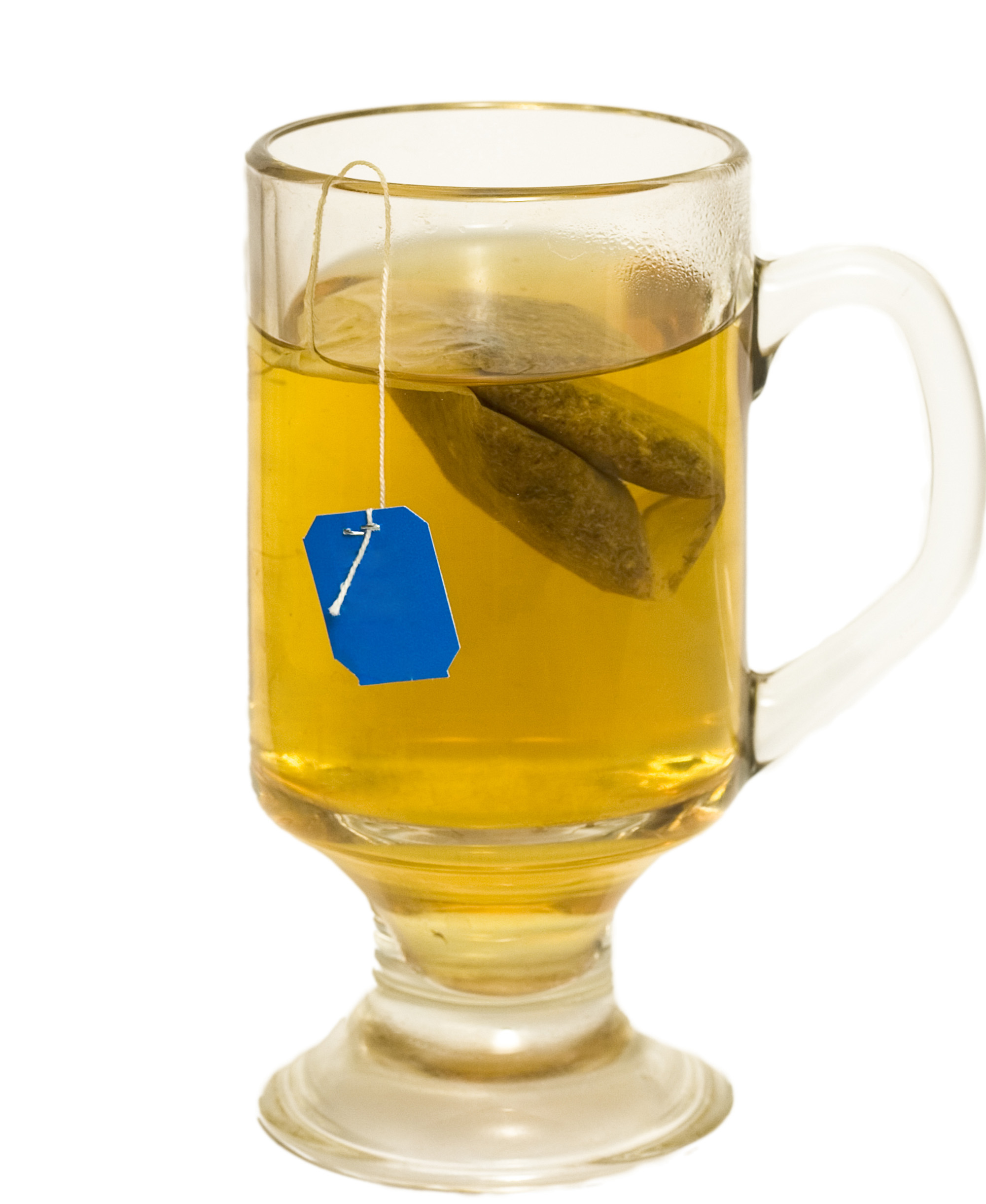 Glass of Tea with Bag isolated