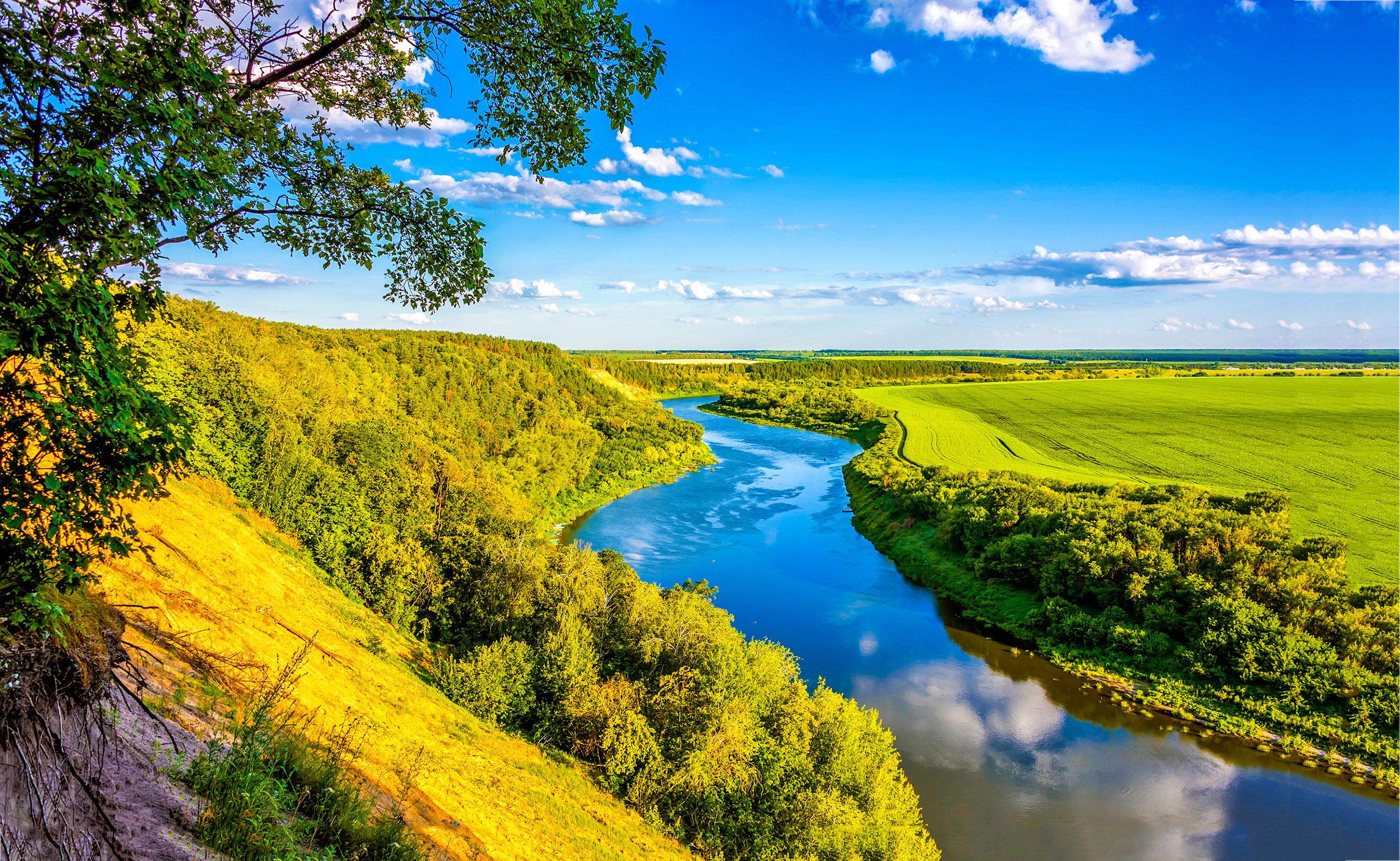 Paisagem do Summer Green Valley River1-editado