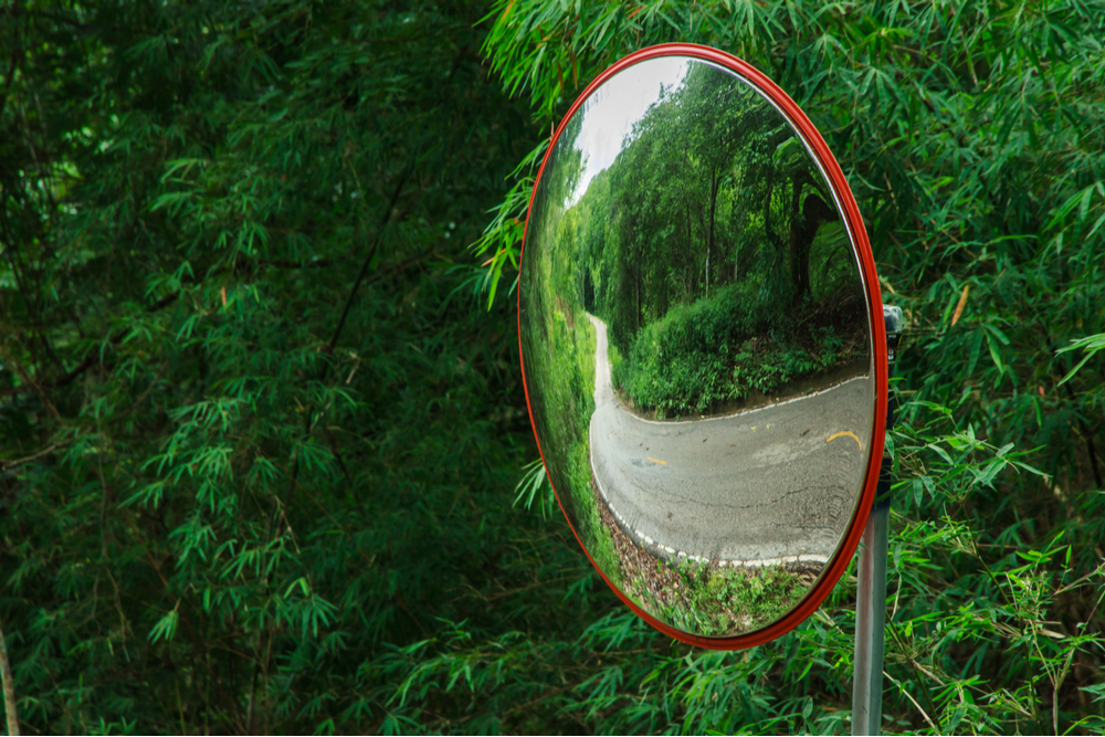 The traffic curve mirror