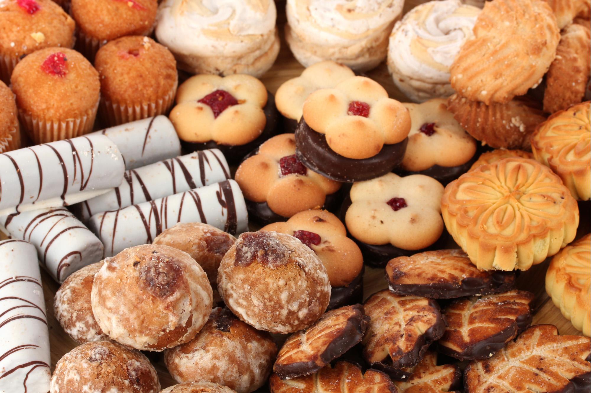 Mistura de biscoitos doces