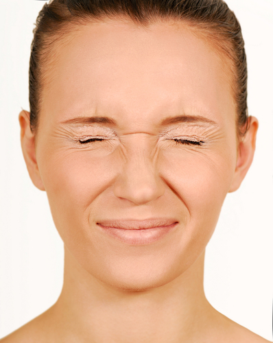 Closed eyes-Woman face.