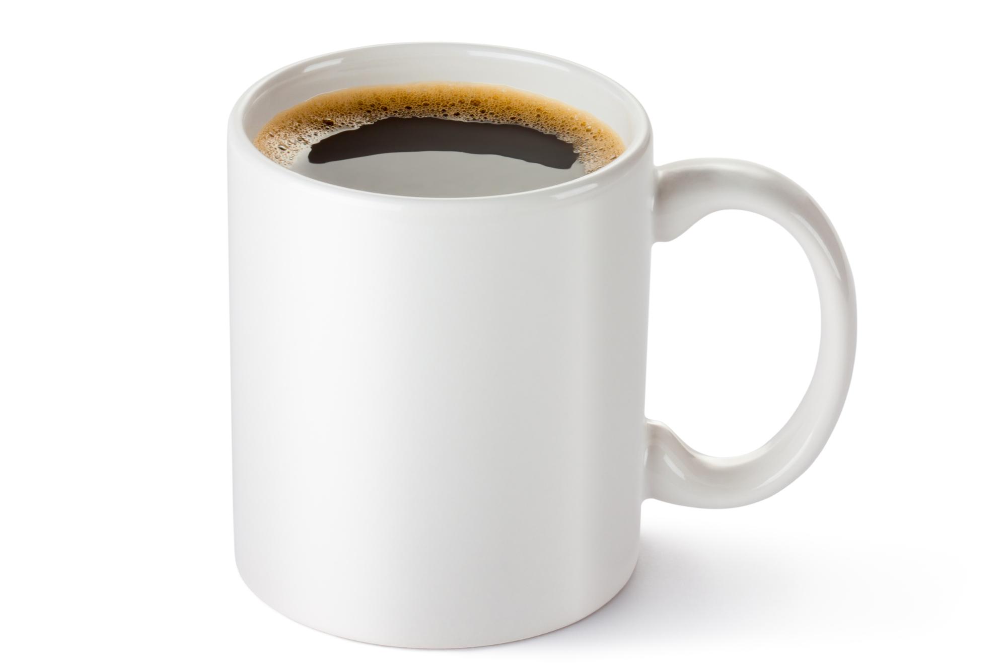 كوب قهوة خزفي أبيض