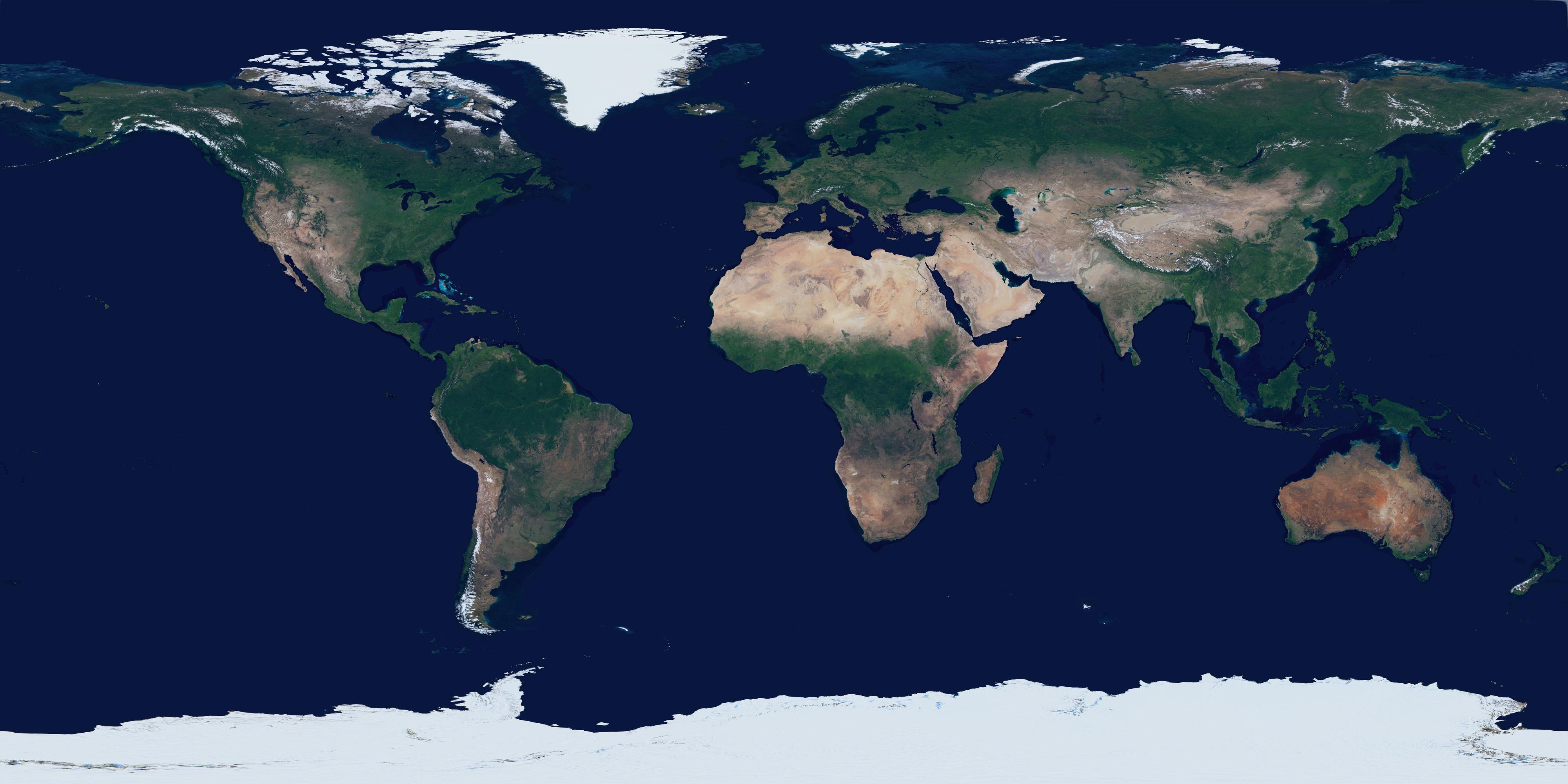 الأرض بإسقاط متساوي المستطيلات