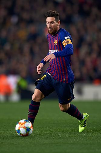 Lionel Messi de Barcelone pendant la Coupe d'Espagne-500